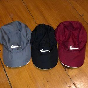 3 Nike dri fit hats
